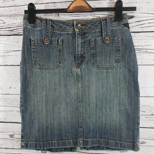 Riders Copper Collection Denim Jeans Skirt - 7/8